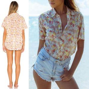 New acacia Mombasa shirt cherry blossom dress M